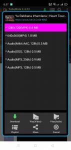 TubeMate YouTube Downloader Apk version 2.4.23 5